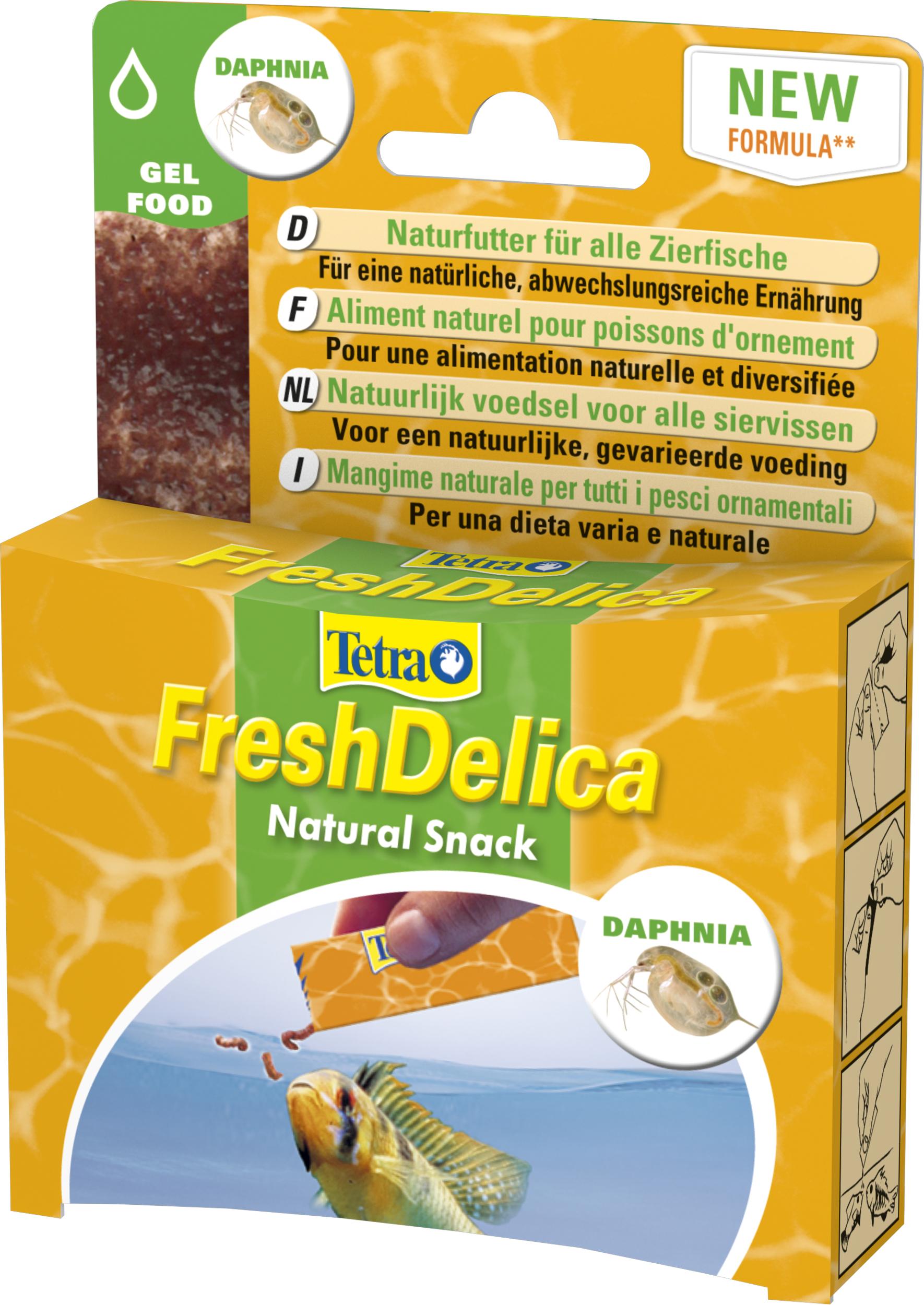 TETRA FreshDelica Brine Shrimps artemias entiers pour poissons d\'eau douce et d\'eau de mer