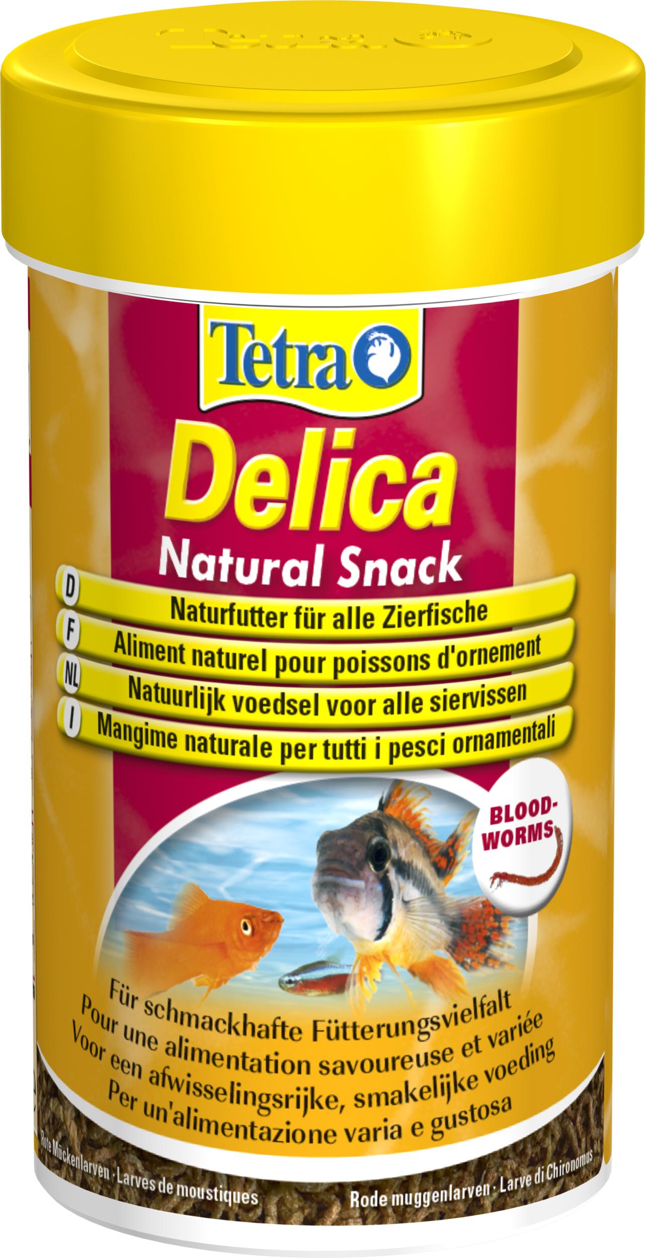 TETRA Delica Natural Snack Bloodworms 100 ml est une délicieuse friandise contenant 100% de larves de moustiques rouges lyophilisées