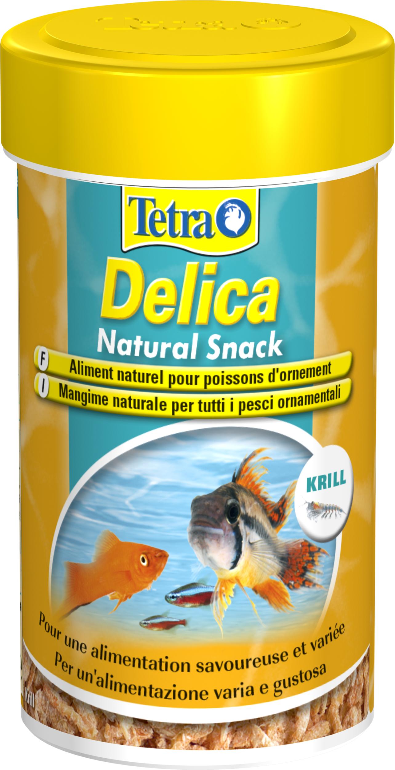 TETRA Delica Natural Snack Krill 100 ml est une délicieuse friandise contenant 100% de Krills lyophilisées