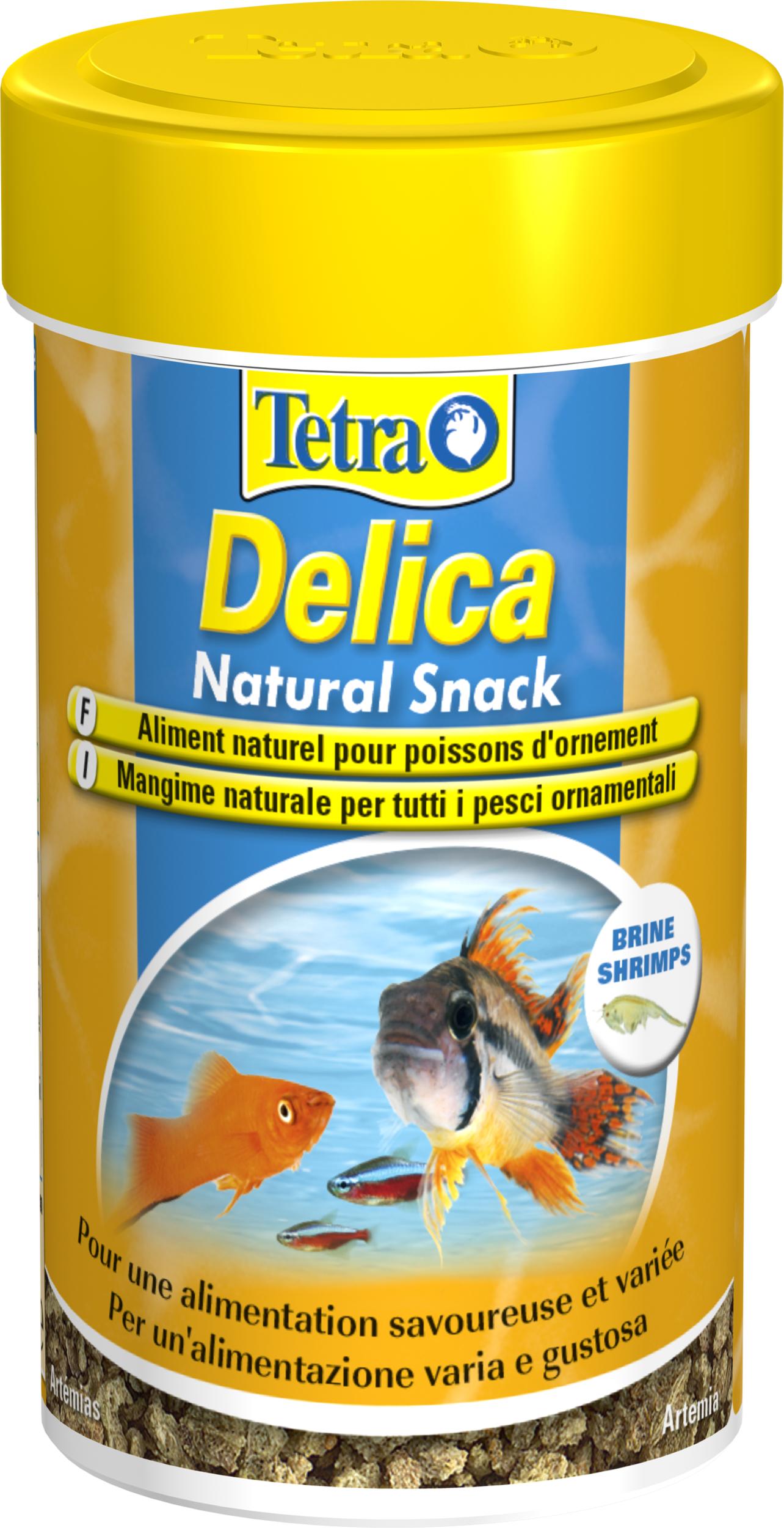 TETRA Delica Natural Snack Artemias 100 ml est une délicieuse friandise contenant 100% d\'artemias lyophilisées