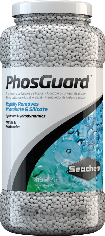 SEACHEM PhosGuard 500 ml élimine rapidement les phosphates et silicates en aquarium d\'eau douce et d\'eau de mer