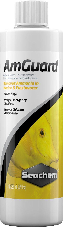 SEACHEM AmGuard 250ml conditionneur d\'eau haut de gamme pour l\'élimination de l\'ammoniac en aquarium