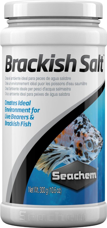 SEACHEM Brackish Salt Salt 300 gr. reproduit l\'environnement naturel des ovovivipares et des poissons d\'eau saumâtre