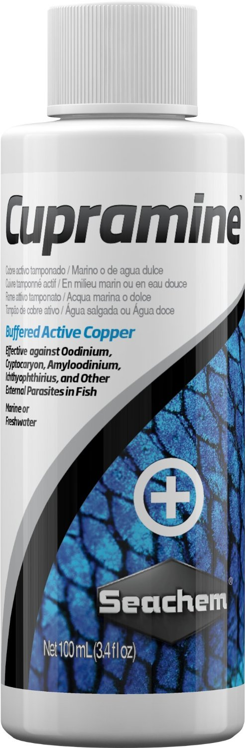 Seachem cupramine 100 ml cuivre actif traitements for Boutique aquariophilie