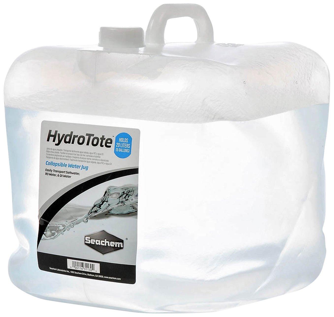 SEACHEM HydroTote jérrican pliable de 20L idéal pour le transport d\'eau douce, eau osmosée ou eau salée
