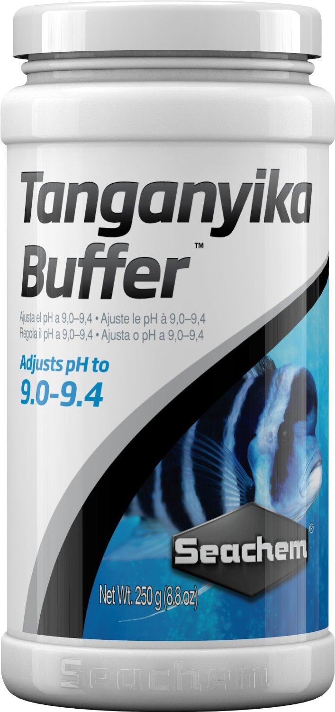 SEACHEM Tanganyika Buffer 250 gr. stabilise le pH entre 9.0 et 9.4 dans les aquariums avec cichlidés du lac Tanganyika