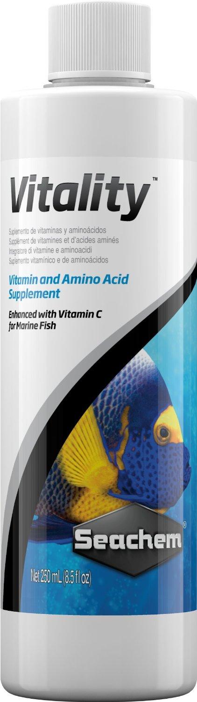 SEACHEM Vitality 250 ml additif complet spécifique pour poissons d\'eau de mer