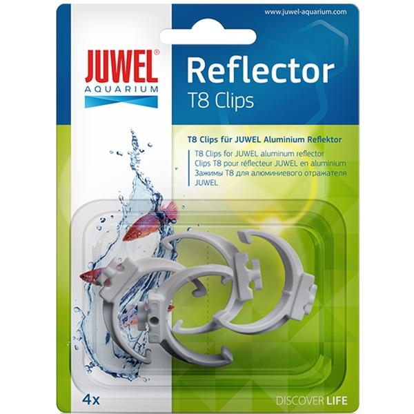 JUWEL Lot de 4 clips de remplacement d. 26mm pour réflecteur T8 Juwel Réf Juwel 94025