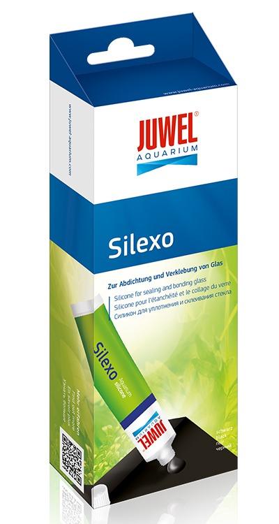 JUWEL Silexo 80 ml colle silicone Noir pour le collage d\'aquarium, fixation de décor et de matériel