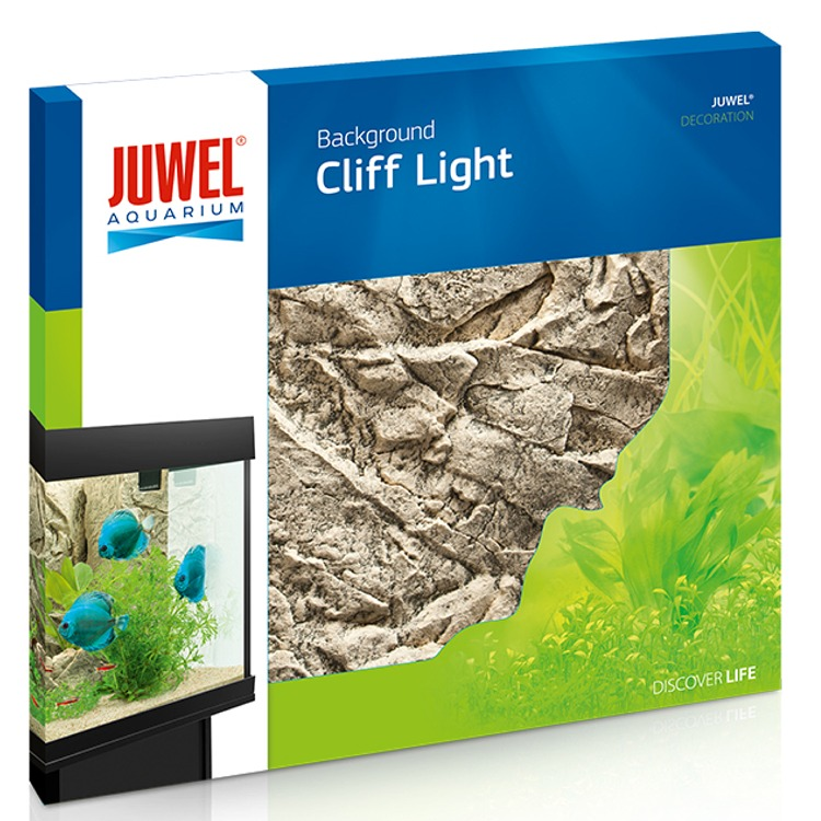 JUWEL Cliff Light plaque de fond 3D 60 x 55 cm pour l\'habillage de la vitre arrière de votre aquarium