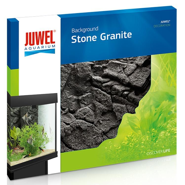 JUWEL Stone Granite plaque de fond 3D 60 x 55 cm pour l\'habillage de la vitre arrière de votre aquarium