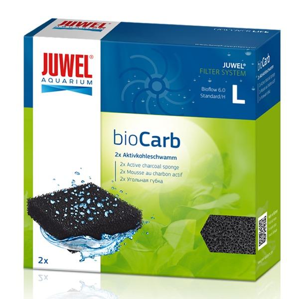 JUWEL bioCarb L 2 blocs de mousse au charbon actif pour filtre Juwel Bioflow 6.0 et Standard. Dimensions 12,5 x 12,5 x 2,5 cm