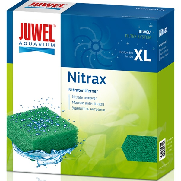 JUWEL Nitrax XL bloc de mousse anti-nitrates pour filtre Juwel Bioflow 8.0 et Jumbo. Dimensions 14,8 x 14,8 x 5 cm