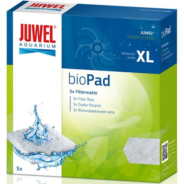 JUWEL bioPad XL lot de 5 coussins de ouate pour filtre Juwel Bioflow 8.0 et Jumbo. Dimensions 15,3 x 15,3 x 1 cm