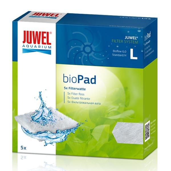 JUWEL bioPad L lot de 5 coussins de ouate pour filtre Juwel Bioflow 6.0 et Standard. Dimensions 13,3 x 13,3 x 1 cm