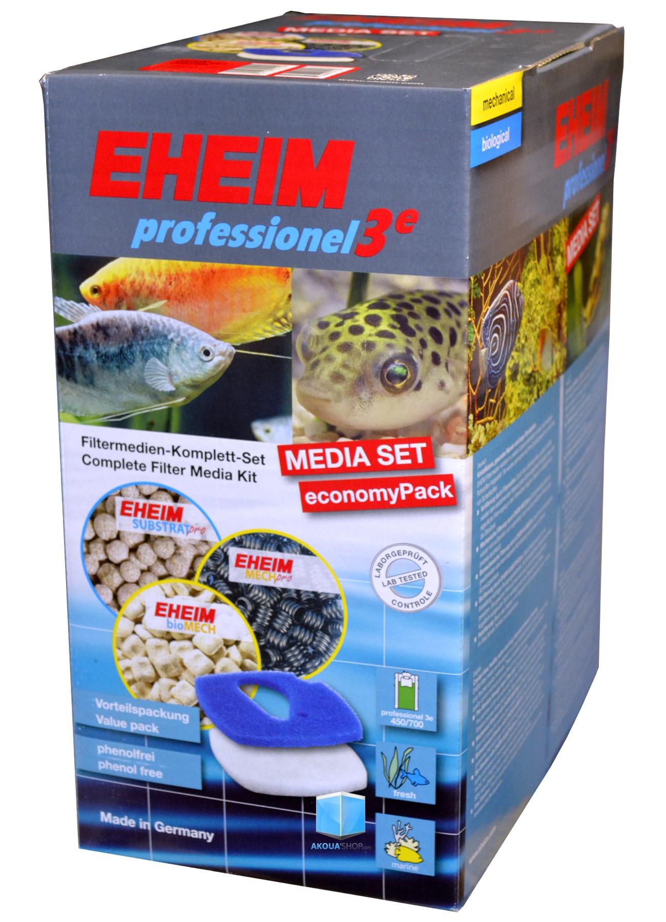 EHEIM MediaSet kit de masses filtrantes pour filtre professionel 3e 2076, 2078 et 2178
