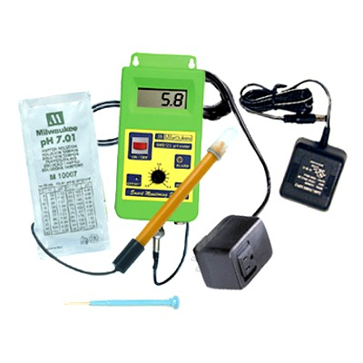 MILWAUKEE SMS122 contrôleur pH pour le pilotage d\'une électrovanne CO2