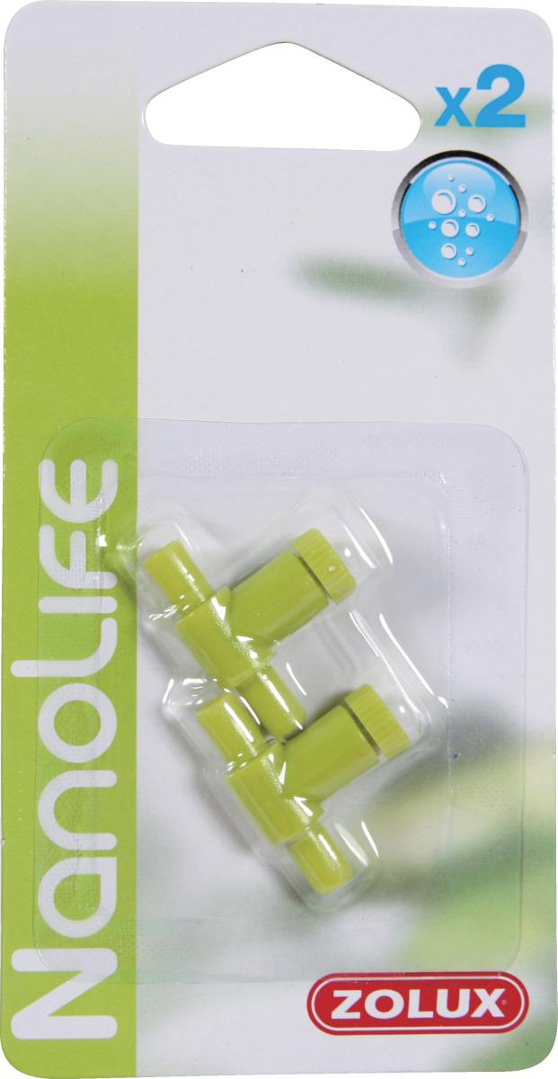 ZOLUX NanoLife Air lot de 2 robinets en plastique pour système d\'aération