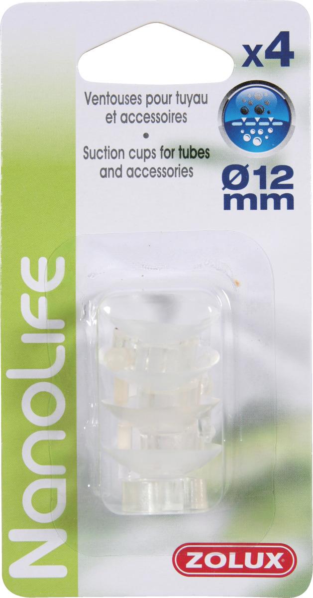 ZOLUX NanoLife lot de 4 ventouses pour tuyaux d\'eau 9/12 mm