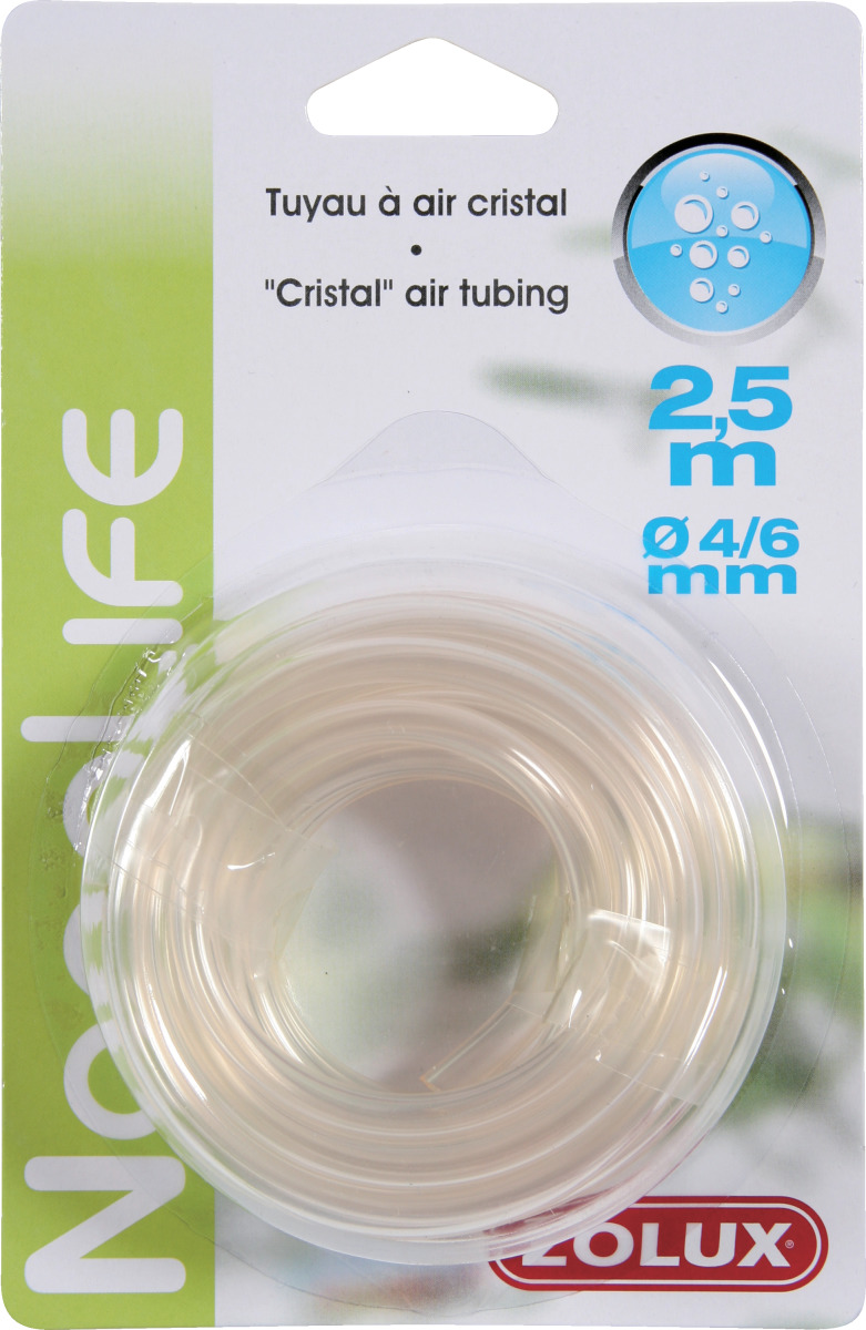 ZOLUX NanoLife Air tuyau d\'air 4/6 mm d\'une longueur de 2,50 m spécial aération pour aquarium