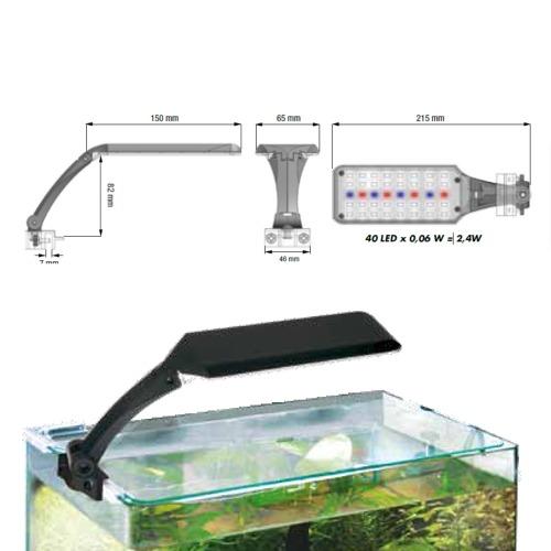 wave orion led river 2 4w noir lampe 40 leds pour aquarium. Black Bedroom Furniture Sets. Home Design Ideas