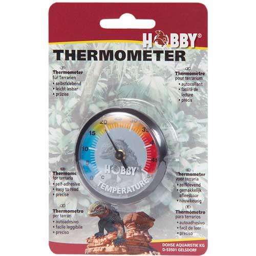 HOBBY Thermomètre autocollant pour la mesure précise de la température en terrarium
