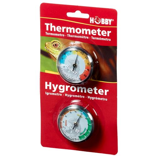 HOBBY Thermomètre / Hygromètre de précision pour la mesure du taux d\'humidité et température en terrarium