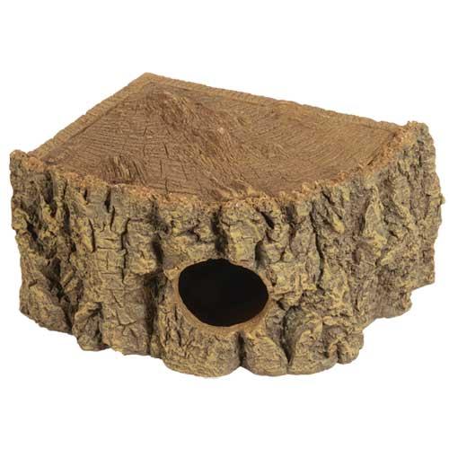 HOBBY Grotte d\'angle Bark 27 x 22 x 11 cm cachette parfaite pour les petits animaux de terrarium