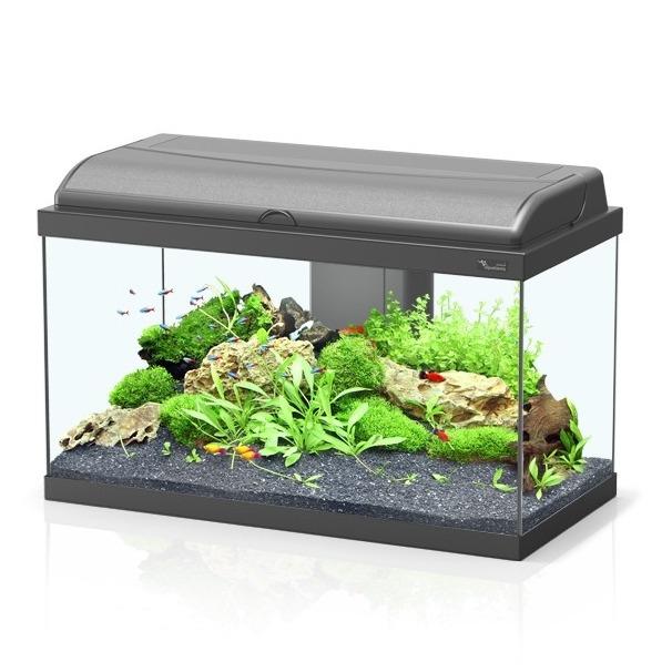 aquarium aquatlantis aquadream 60 tout 233 quip 233 54 l coloris noir ou blanc avec ou sans meuble