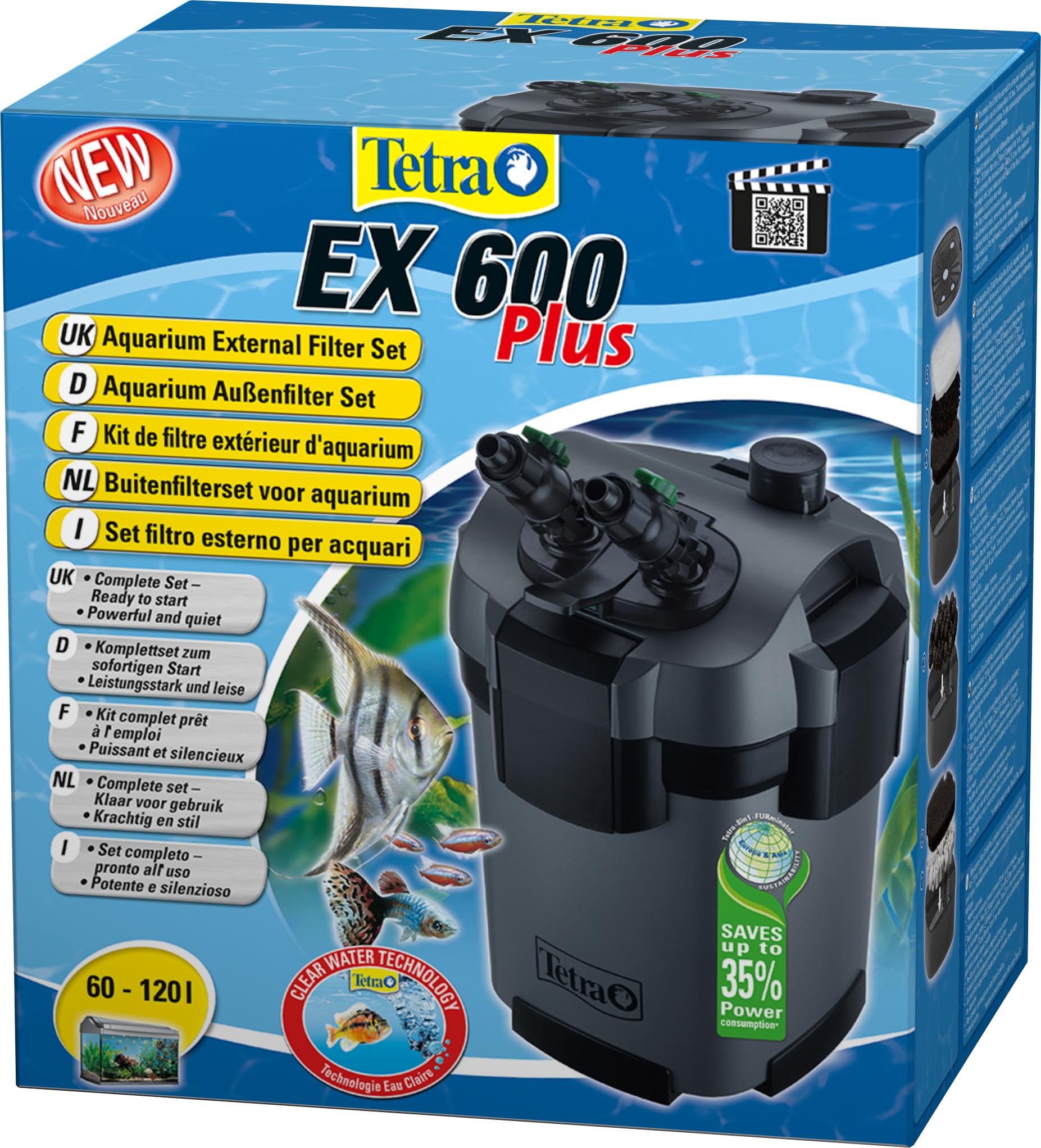 tetra ex 600 plus filtre externe 600 l h pour aquarium de 60 120 l en vente sur. Black Bedroom Furniture Sets. Home Design Ideas