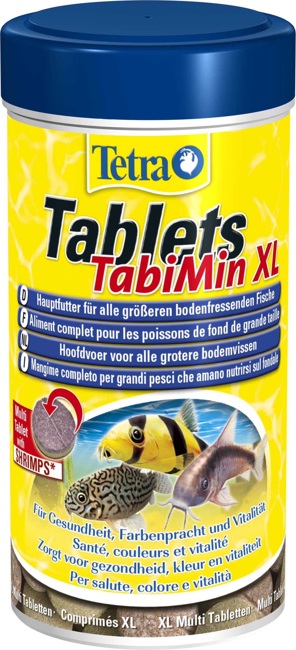 TETRA Tablets TabiMin XL aliment sous forme de comprimés de haute qualité, équilibrés et riches en nutriments pour les grands poissons de fond