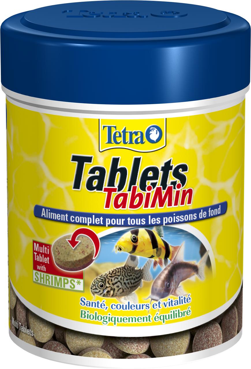 TETRA Tablets TabiMin 150 ml est un aliment complet en tablettes pour tous les poissons de fond