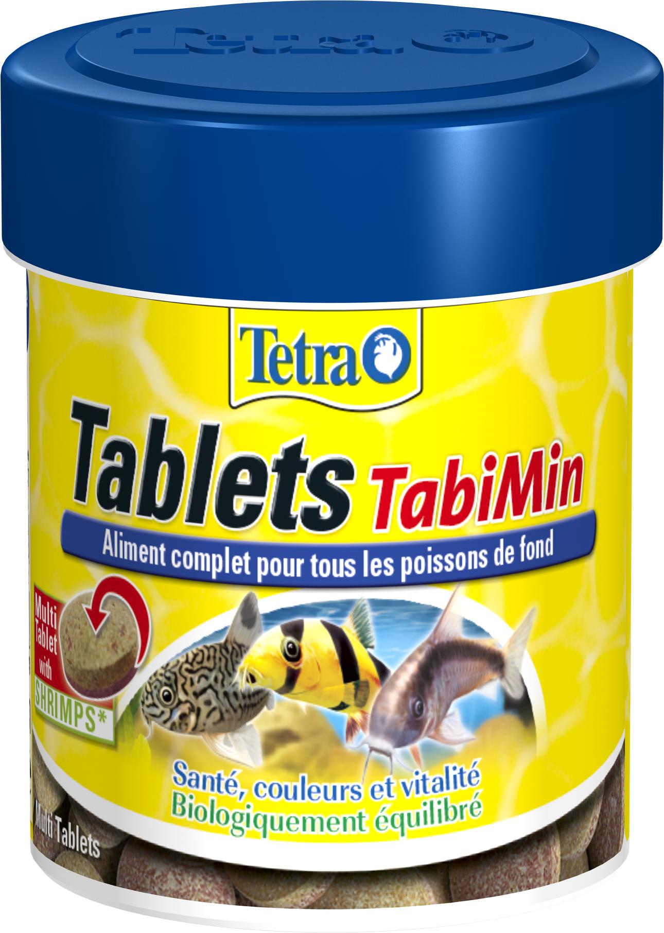 TETRA Tablets TabiMin 66 ml est un aliment complet en tablettes pour tous les poissons de fond