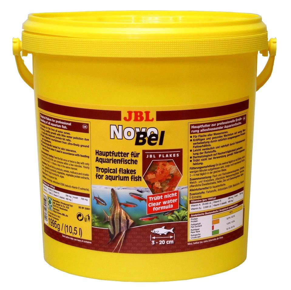 Jbl novobel 10 5 l nourriture en paillettes pour poissons for Paillette poisson