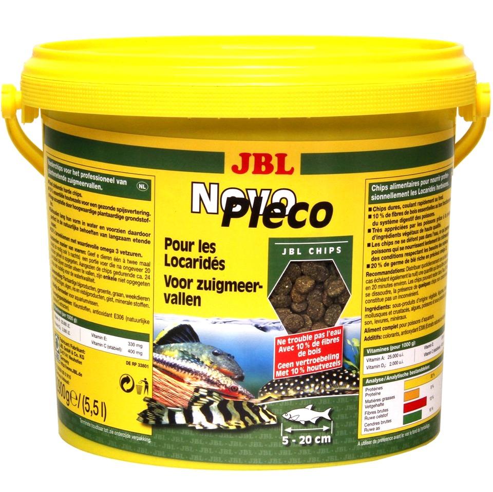 JBL NovoPlecoChips 5,5 L chips d\'algues à base de fibre de bois destinées aux Loricaridés