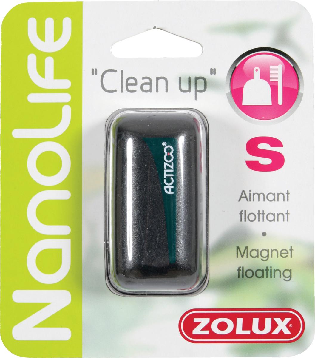 ZOLUX Clean Up S aimant flottant 6 cm de long pour le nettoyage des vitres d\'aquarium