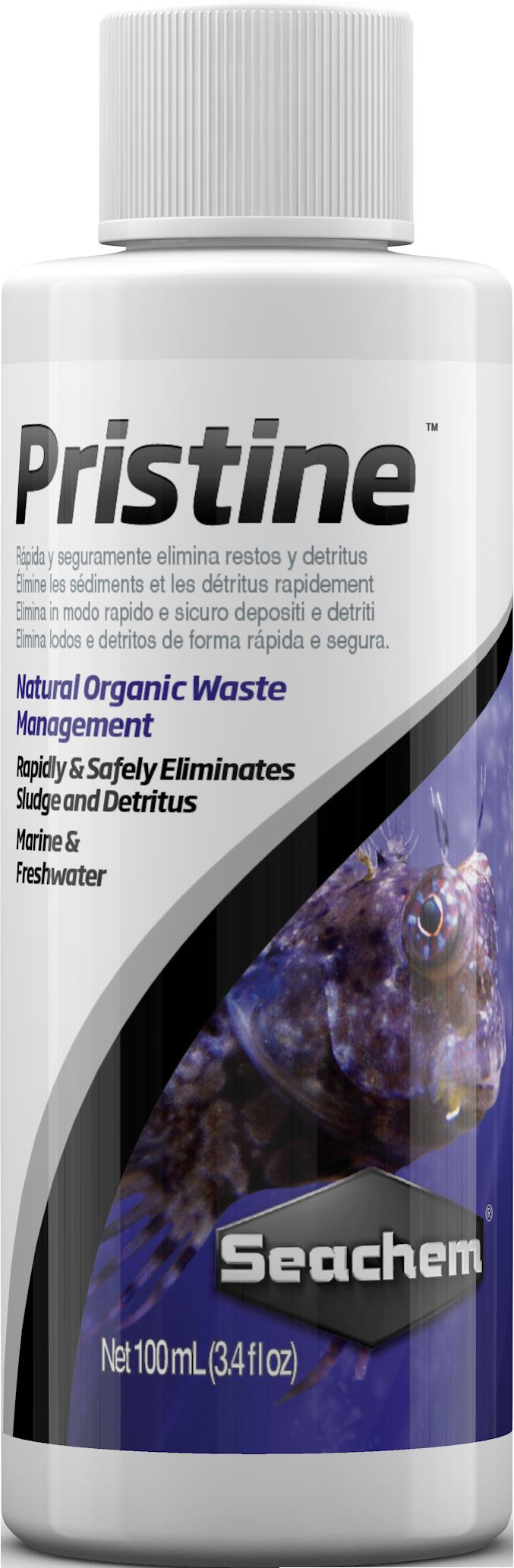 SEACHEM Pristine 100 ml bactéries spécifiques améliorant la qualité de l\'eau en aquarium d\'eau douce et d\'eau de mer