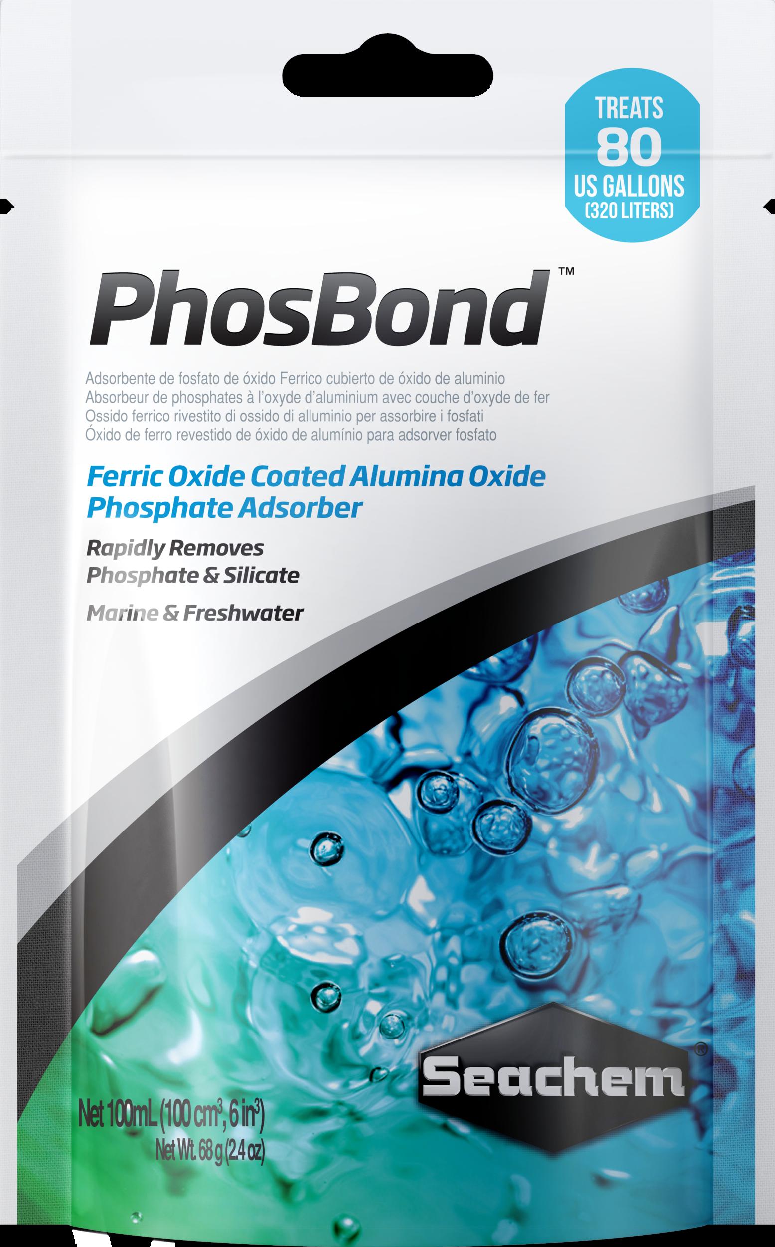 SEACHEM PhosBond 100 ml élimine les phosphates et silicates en aquarium d\'eau douce et d\'eau de mer