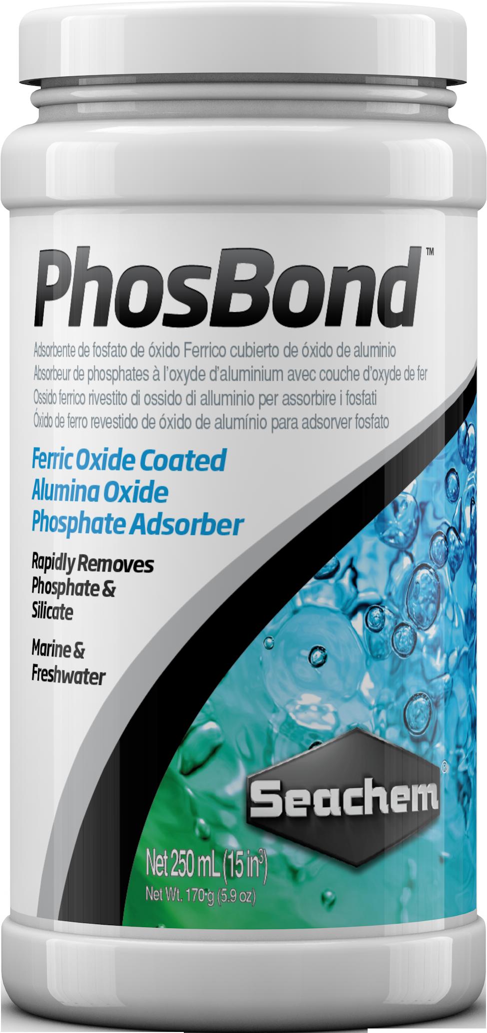 SEACHEM PhosBond 250 ml élimine les phosphates et silicates en aquarium d\'eau douce et d\'eau de mer
