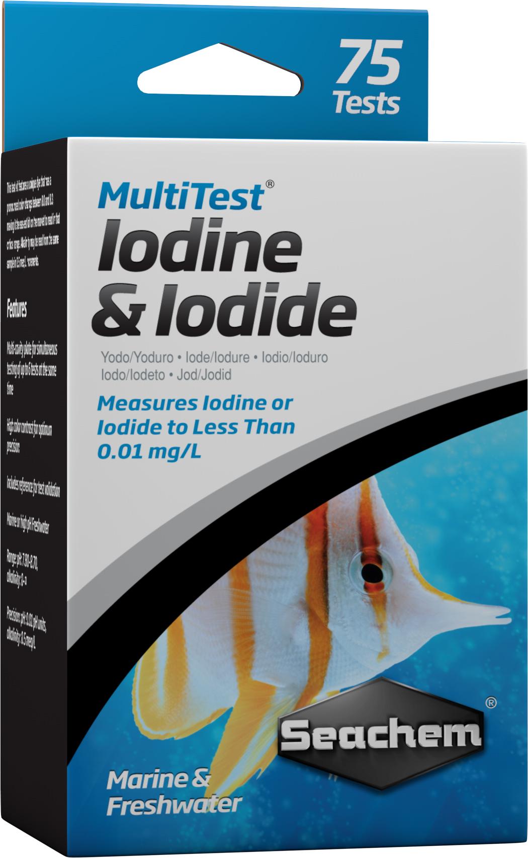 SEACHEM MultiTest Iodine & Iodide pour le test précis de la teneur en Iode et en Iodure en aquarium d\'eau de mer