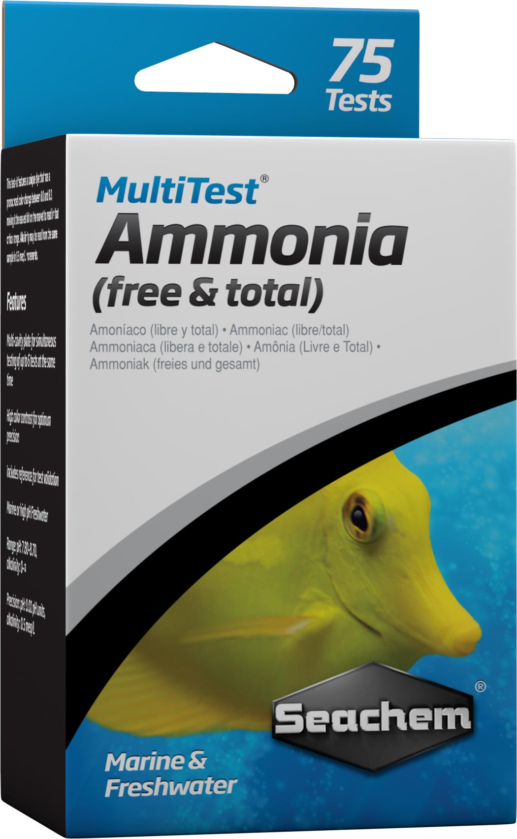 SEACHEM MultiTest Ammonia pour le test précis de la teneur en Ammoniaque en aquarium d\'eau douce et et d\'eau de mer