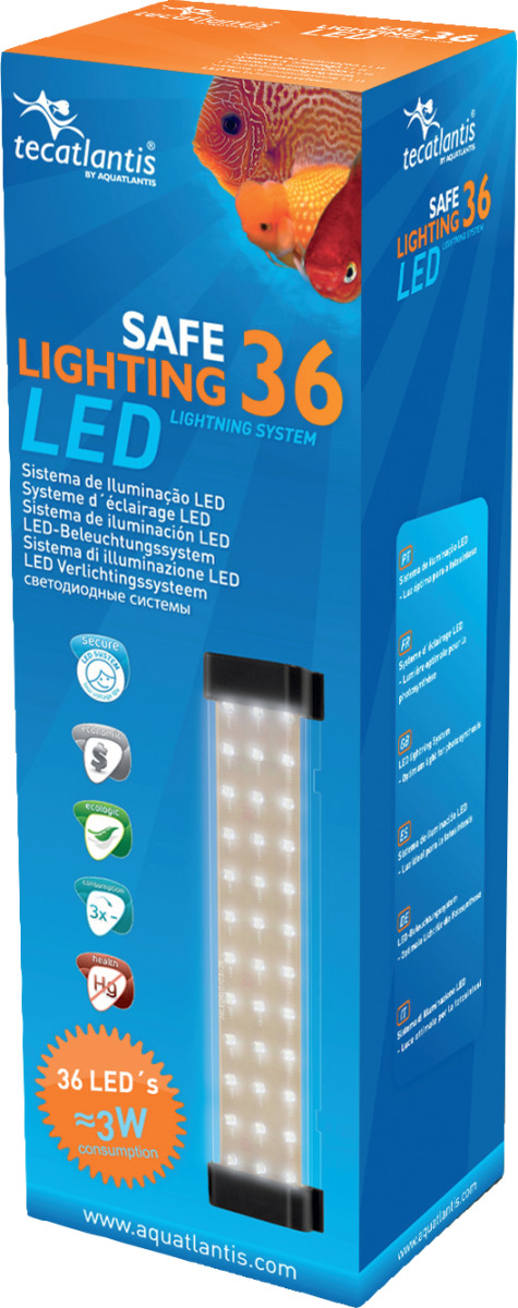 AQUATLANTIS Safe Lighting bloc d\'éclairage 36 LEDs 3W pour aquarium d\'eau douce