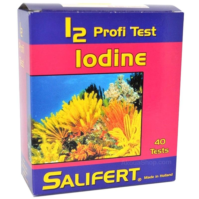 SALIFERT Profi-Test Iode test Iode pour aquarium d\'eau de mer