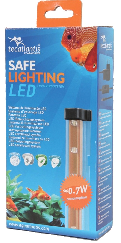 AQUATLANTIS Safe Lighting rampe d\'éclairage 12 LEDs 0,7W pour aquarium d\'eau douce