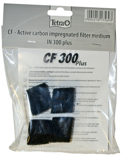 TETRA CF 300 Plus lot de 4 mousses filtrantes au charbon actif pour filtre Tetra IN 300 plus
