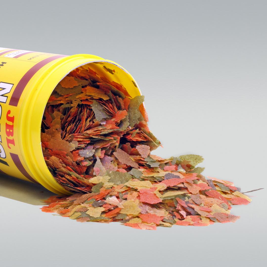 Jbl novobel 250 ml nourriture en paillettes pour tous les for Nourriture a poisson