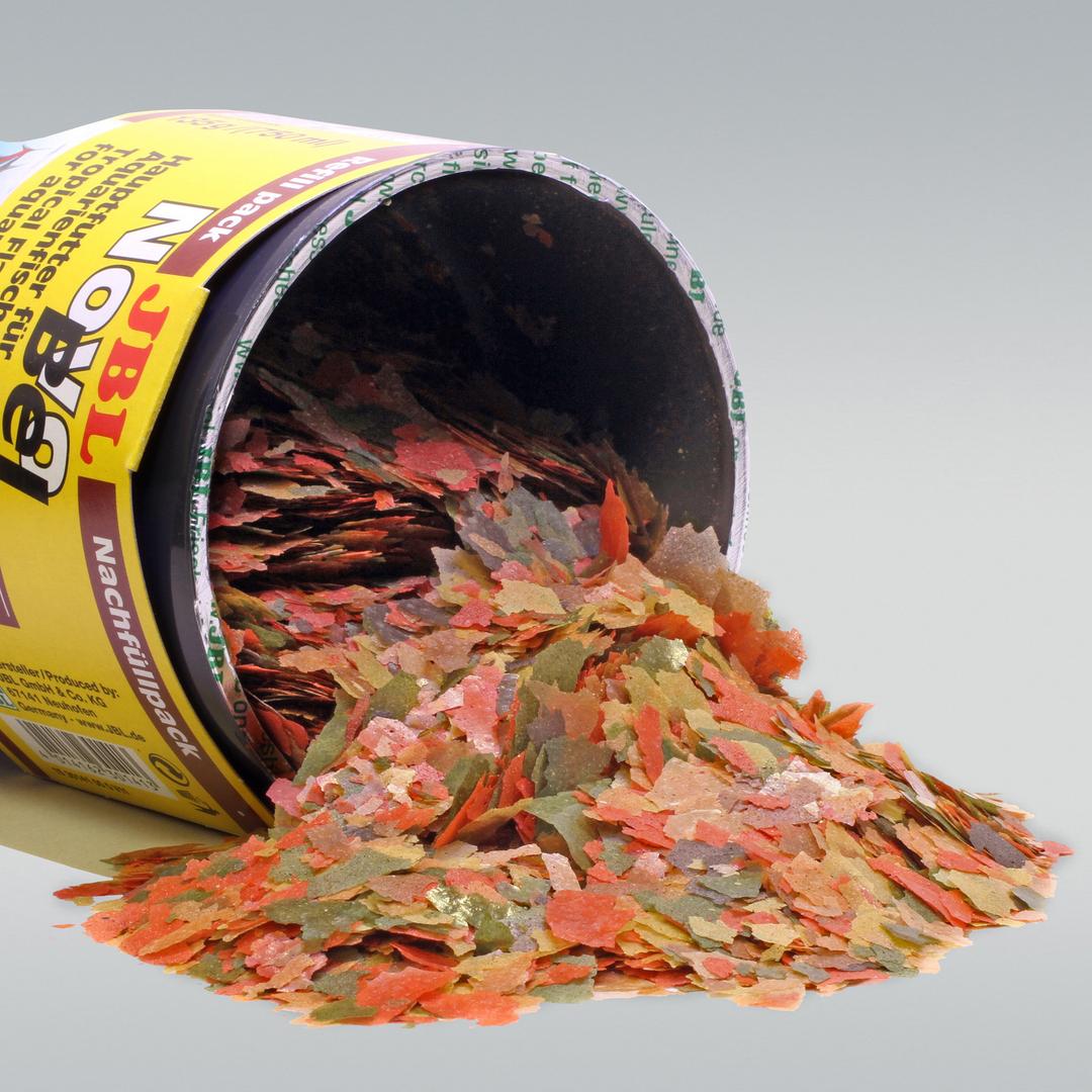 Jbl novobel recharge 750 ml nourriture en paillettes pour for Nourriture du poisson