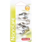 ZOLUX NanoLife Lot de 4 clips 26 mm universelles pour tube T8