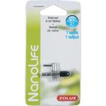 ZOLUX NanoLife Robinet métal 1 sortie pour tuyau d'air 4/6 mm