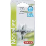 ZOLUX NanoLife Robinet métal 3 sorties pour tuyau d'air 4/6 mm
